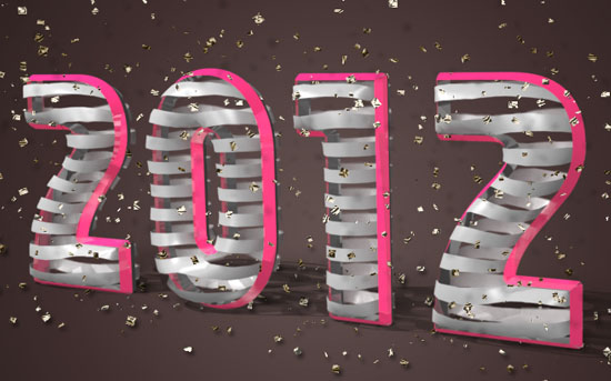 3D Ribbon Text Effect