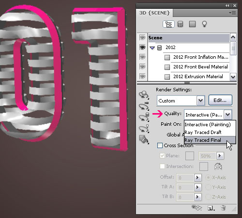 3D Ribbon Text Effect step 3