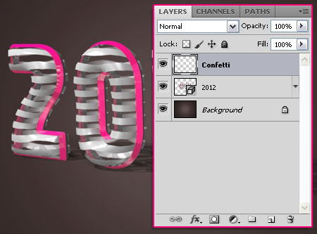3D Ribbon Text Effect step 4