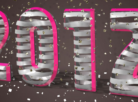 3D Ribbon Text Effect step 5