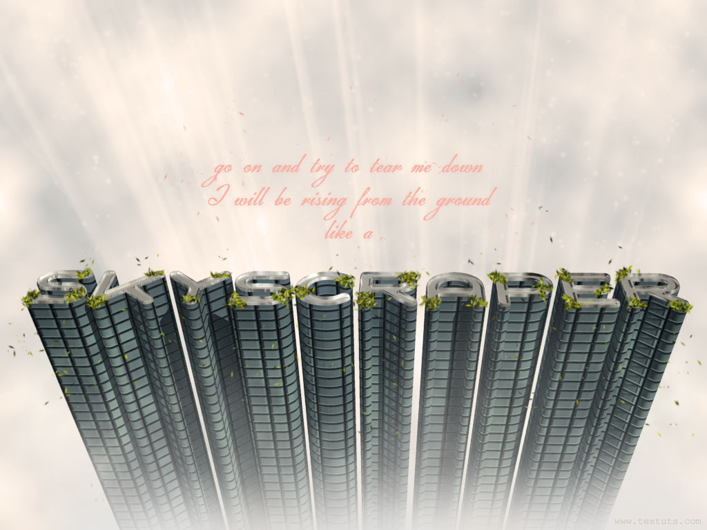 3d skyscraper text effect in photoshop cs5 part 1