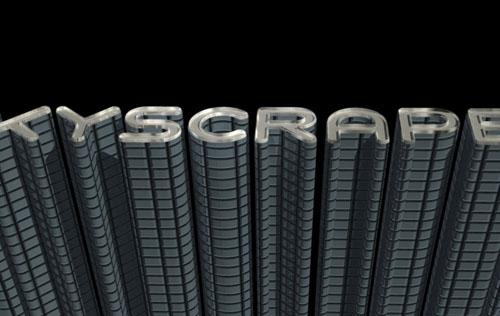 3D Skyscraper Text Effect: PSD Tower Font - Part 1 | Textuts