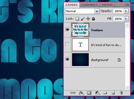 Simple Abstract Text Effect step 2