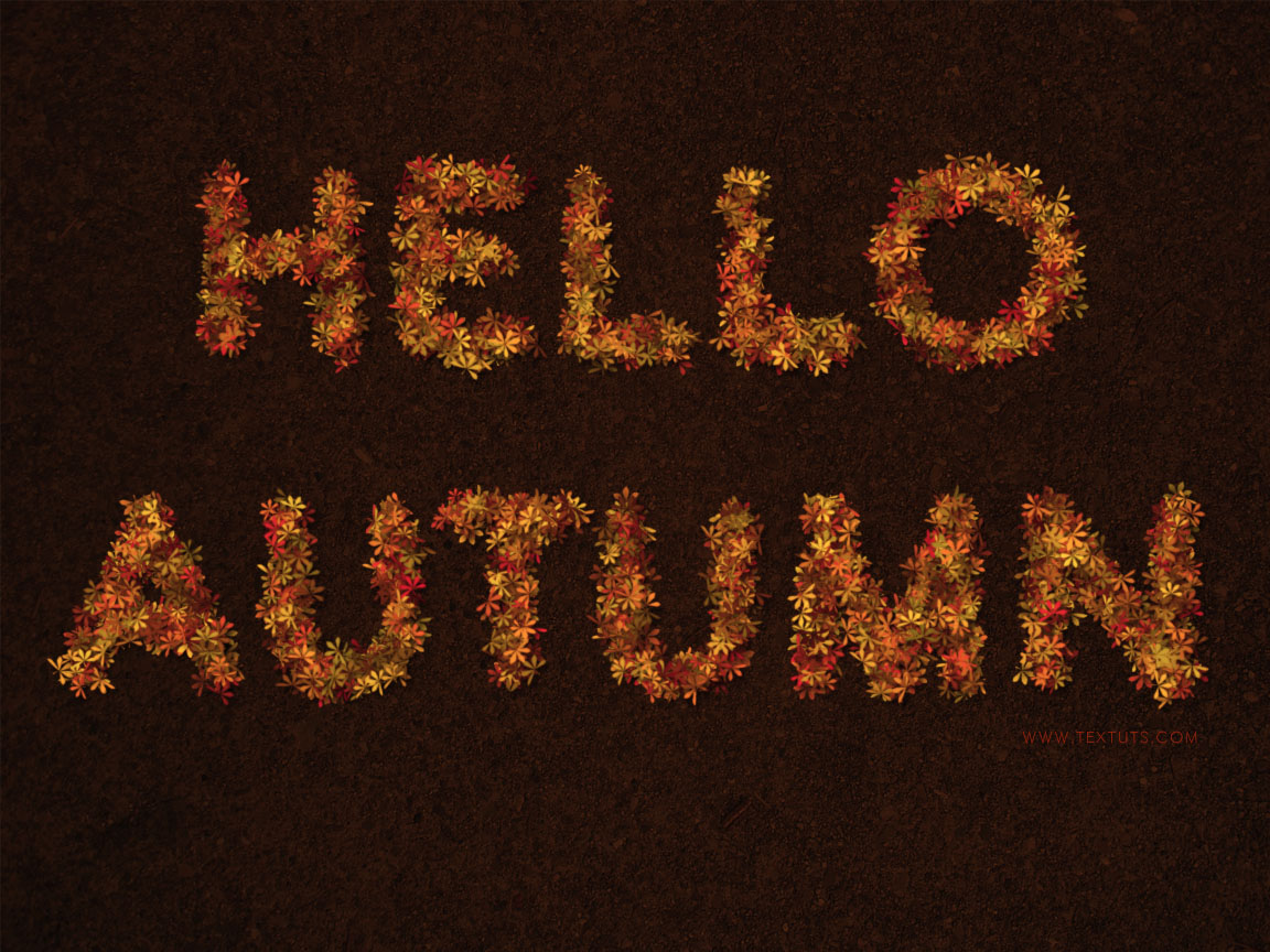 Colorful Autumn-Inspired Text Effect | Textuts