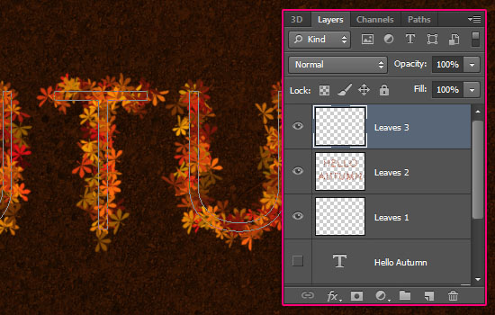 Colorful Autumn Text Effect step 5