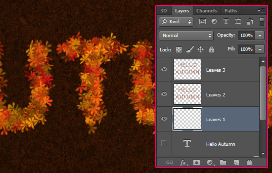 Colorful Autumn Text Effect step 6