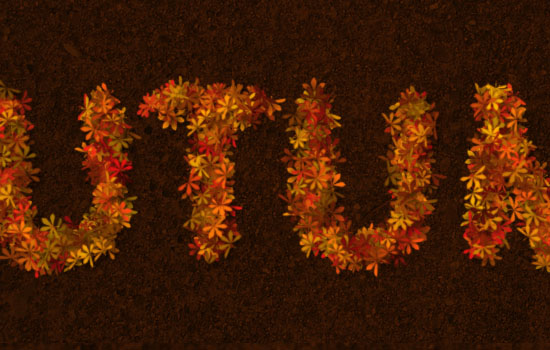 Colorful Autumn Text Effect step 7