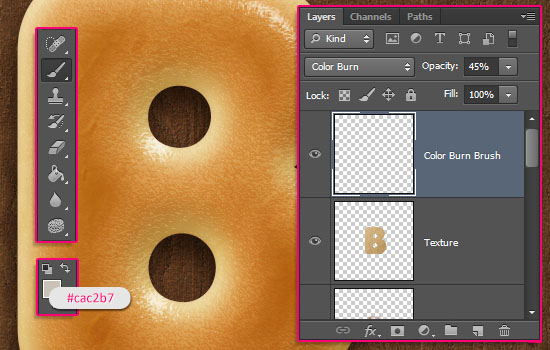 Delicious Bagels Text Effect step 10
