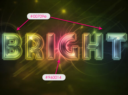 Bright Retro Text Effect step 7