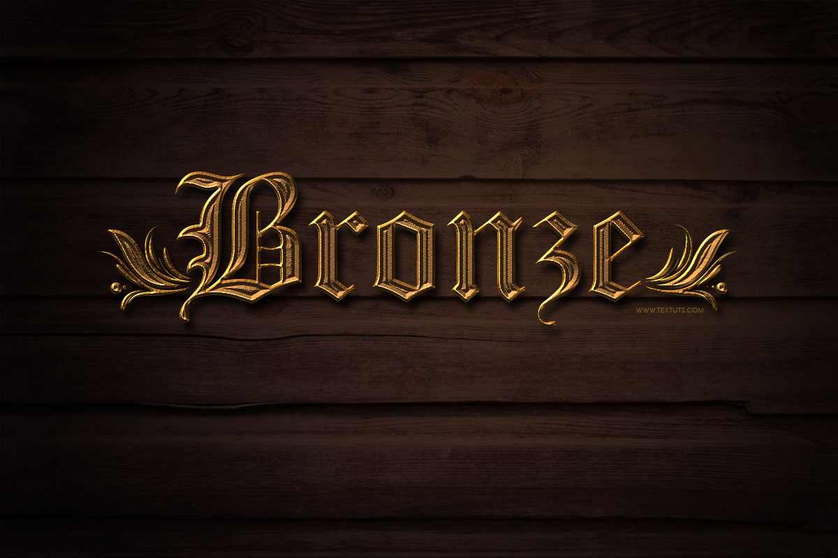 Simple bronze text effect bronze metal psd font textuts bronze text effect tutorial details baditri Gallery