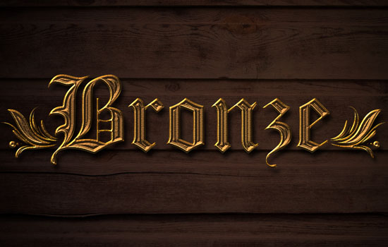 Bronze Text Effect