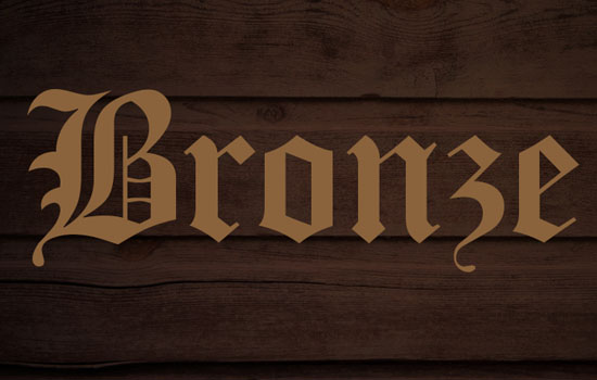 Bronze Text Effect step 2
