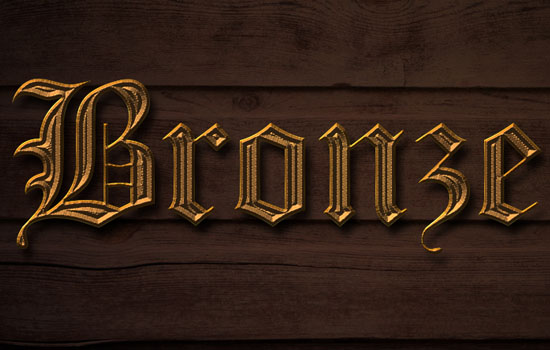 Bronze Text Effect step 3