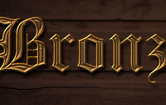 Bronze Text Effect step 4