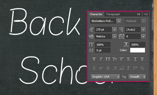 Chalk Text Effect step 2
