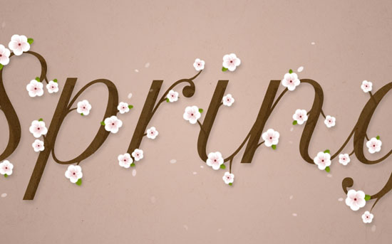 Cherry Blossoms Text Effect