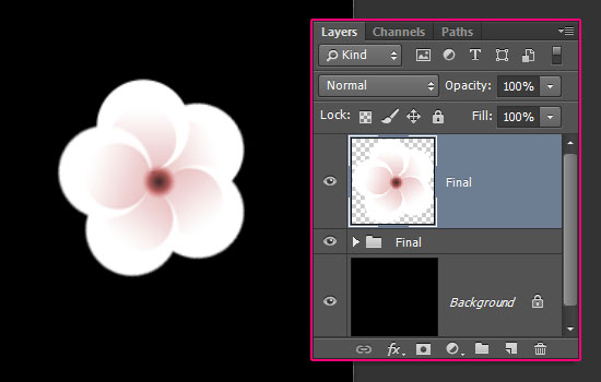 Cherry Blossoms Text Effect step 2