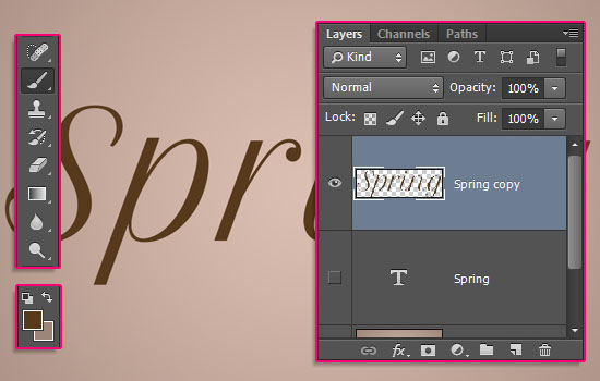 Cherry Blossoms Text Effect step 3