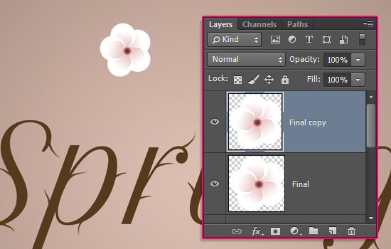 Cherry Blossoms Text Effect step 5