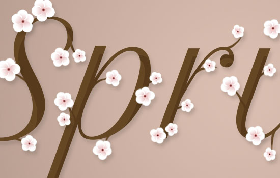 Cherry Blossoms Text Effect step 6