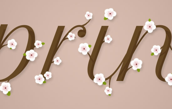 Cherry Blossoms Text Effect step 7