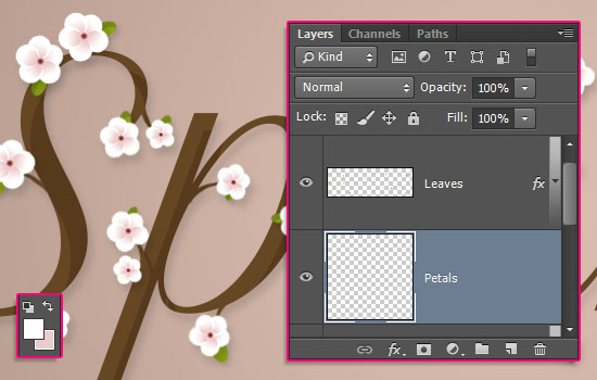Cherry Blossoms Text Effect step 8