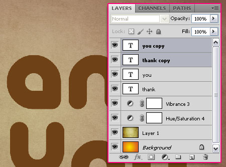 Chocolate Bar Text Effect step 3