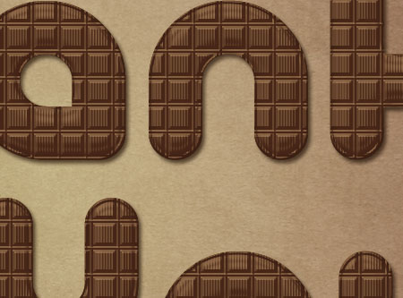 Chocolate Bar Text Effect step 4