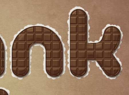 Chocolate Bar Text Effect step 5