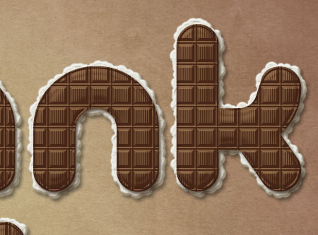 Chocolate Bar Text Effect step 6