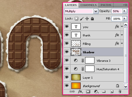 Chocolate Bar Text Effect step 7
