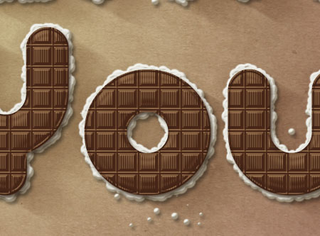 Chocolate Bar Text Effect step 8