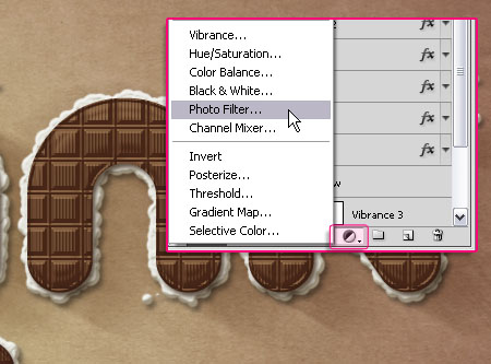 Chocolate Bar Text Effect step 10