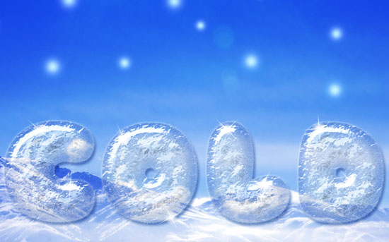 Cold Ice Text Effect