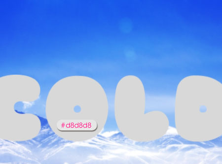 Cold Ice Text Effect step 2