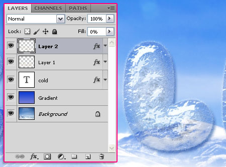 Cold Ice Text Effect step 3