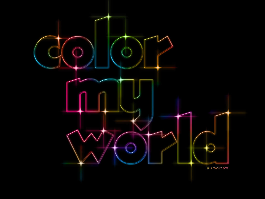 Colorful light text effect textuts colorful light text effect baditri Image collections