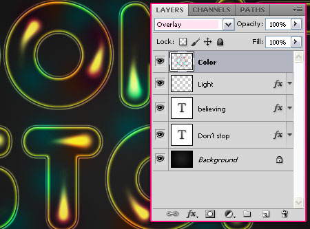 Colorful Retro Text Effect step 5
