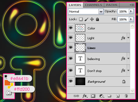 Colorful Retro Text Effect step 7