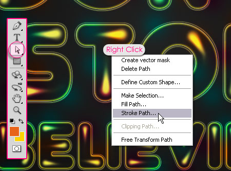 Colorful Retro Text Effect step 8