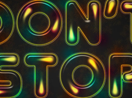 Colorful Retro Text Effect step 9