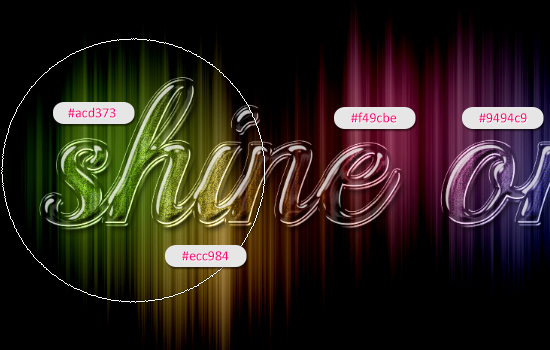 Colorful Sparkling Glass Text Effect step 5