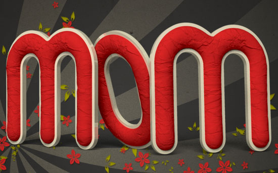 Crumpled Paper 3D s - Crumpled Paper Textured 3D Text Effect In Photoshop CS5 – Part 2
