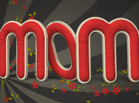 Crumpled Paper 3D 15 5 - Crumpled Paper Textured 3D Text Effect In Photoshop CS5 – Part 2