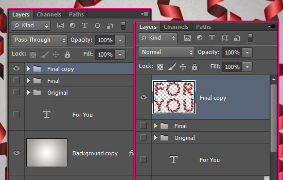 Curled Ribbon Text Effect step 6
