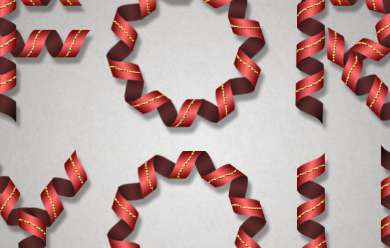 Curled Ribbon Text Effect step 7