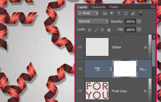Curled Ribbon Text Effect step 8