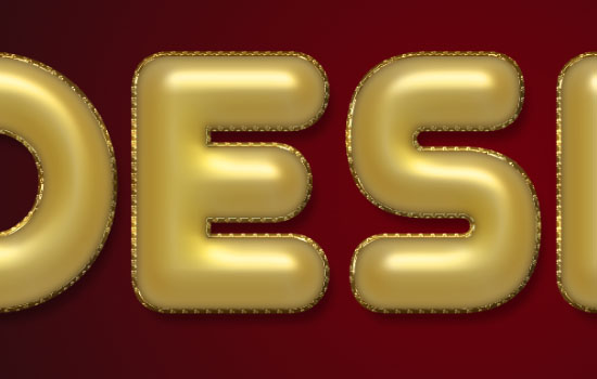 Decorated Gold Metallic Text Effect step 3
