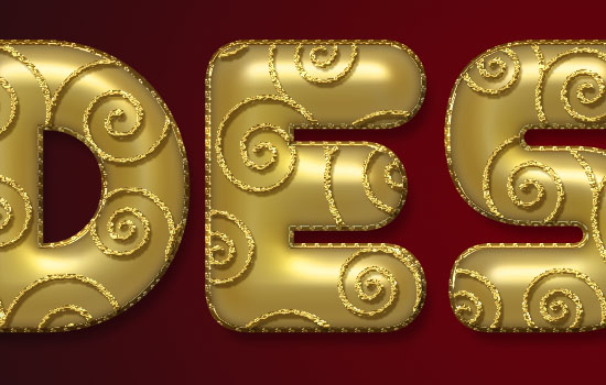 Decorated Gold Metallic Text Effect step 6