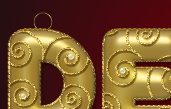 Decorated Gold Metallic Text Effect step 8